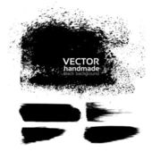 Handmade texture background from brush strokes — Stock Vector