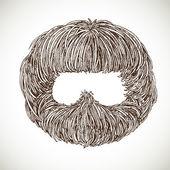 Lush retro beard — Stock Vector