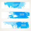 Abstract blue handdrawing banner set — Stock Vector #16879861