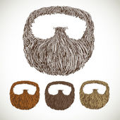 Neat beard in color variations — Stock Vector