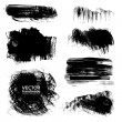 Backgrounds of painted brush strokes of ink paint - Stock Vector