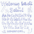 Stock Vector: Welcome back to school font