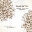 Magic flowers vintage background — Stock Vector