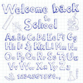 Welcome back to school font — Stock Vector