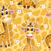 Seamless background with babies giraffes — Stock Vector