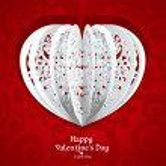 Delicate Valentine card for your congratulatory text — Stock Vector