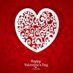 Delicate Valentine card applique — Stock Vector