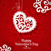 Delikatny streszczenie valentine karty za gratulacje — Wektor stockowy