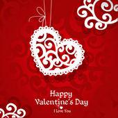 Zarte abstrakte valentinstags-karte für die glückwünsche — Stockvektor