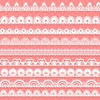 Royalty-Free Stock Vector Image: Large set of openwork lace borders for your design