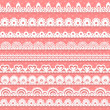 Large set of openwork lace borders for your design - Stock Vector