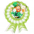 Rosette on St. Patrick's Day with Leprechaun with beer — Stock Vector