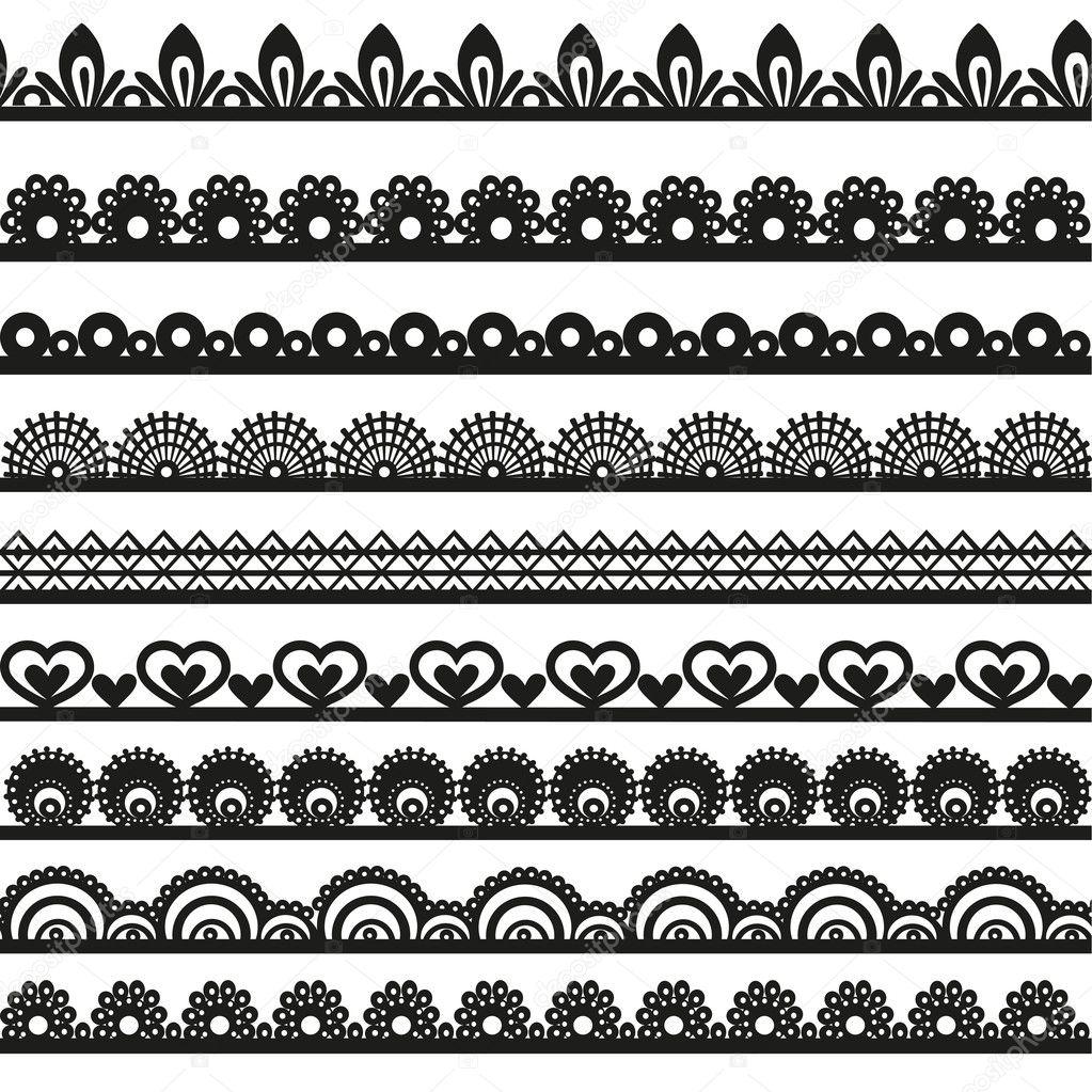 透雕花边边框黑色剪影为您设计的大集