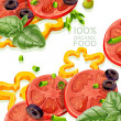Background from organic natural food fresh — Stock Vector