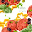 Background from organic natural food fresh — Stock Vector #21010515