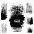 Figured textured brush strokes brush and ink — Stock Vector