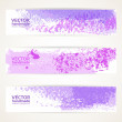 Decorative background vector banner with abstract purple texture paint — Stock Vector