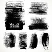 Pinceladas texturizadas pincel e tinta — Vetorial Stock