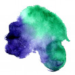 Beautiful watercolor stretch between Emerald and Violet background — Stock Photo