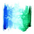 Wet  blue and green watercolor background — Photo