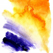 Royalty-Free Stock Photo: Beautiful wet watercolor orange and violet  streaks background