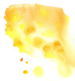 Beautiful wet yellow streaks watercolor background — Stock Photo