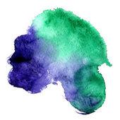 красивая акварель стрейч между изумруд и фиолетовый фон — Стоковое фото