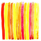 Color strip of a wet aquarelle paint on water textural paper — Stock Photo