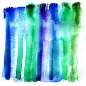 Wet strip of aquarelle paint on water textural paper — Stock Photo