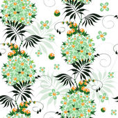 Beautiful seamless pattern of stylized ethnic painting flowers — Stock Vector