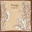 Vintage grunge background with wild meadow flowers — Stock Vector