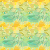Seamless green and yellow ornament from vector drawing crumpled paper — Cтоковый вектор