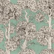 Vector de stock : Seamless pattern of dark enchanted old trees graphic draw