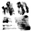 Smears and fingerprints with paint on textured paper — Stock Vector