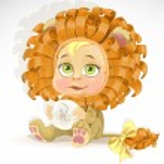 Baby zodiac - sign Leo — Stock Vector