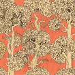 Cтоковый вектор: Seamless pattern of dark enchanted old trees graphic draw