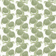 Big seamless decorative pattern of hop cones — Stock Vector