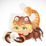 Baby zodiac - sign Scorpio — Stock Vector