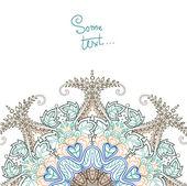Hintergrund für Text mit Runde floral ornament — Stockvektor