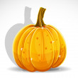 Halloween pumpkin isolated on white background — Stock vektor