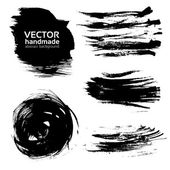 Vector abstract brush strokes paint — Stock Vector
