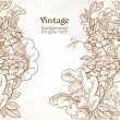 Vintage background with wild meadow flowers — Vettoriali Stock