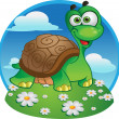 Cute vector tortoise — Stock Vector