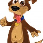 Fun dog ok — Stock Vector