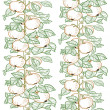 Seamless line pattern of the branches of the apple trees with apples — Image vectorielle