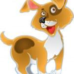 Orange fun dog — Stock Vector