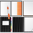 Notebooks for your presentations — 图库矢量图片