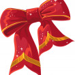 Christmas vector red decoration bow — Stock Vector #33292543