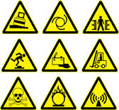 Warning signs set of batch 2. vector — Stock Vector