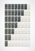 Two sets of dominoes for your design — Stock Vector